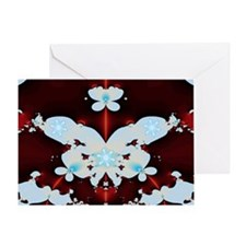 Snow Butterfly Greeting Cards
