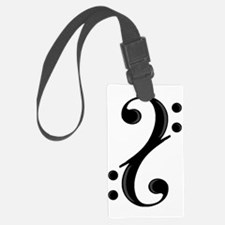 Double Bass Clef Luggage Tag