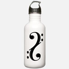 Double Bass Clef Water Bottle