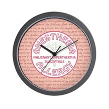 ANESTHESIA ALLERGY Wall Clock