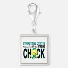 Messed With Wrong Chick 1 IC Silver Square Charm