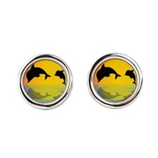 Dolphins at sunset Cufflinks
