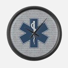 STAR OF LIFE Large Wall Clock