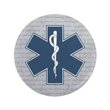 "STAR OF LIFE 3.5"" Button"