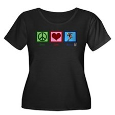 Peace Love Naruto Plus Size T-Shirt
