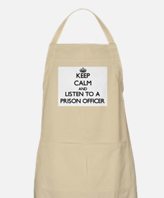 Keep Calm and Listen to a Prison Officer Apron