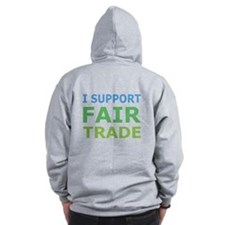 I Support Fair Trade Zip Hoody