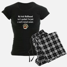 Well Trained Irish Wolfhound Owner Pajamas