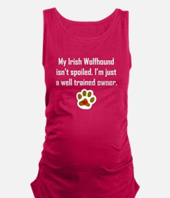 Well Trained Irish Wolfhound Owner Maternity Tank