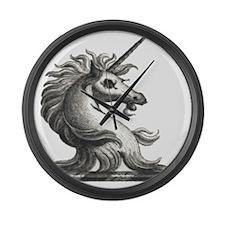 Grunge Unicorn Large Wall Clock