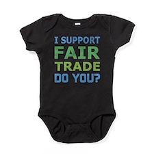 I Support Fair Trade Baby Bodysuit