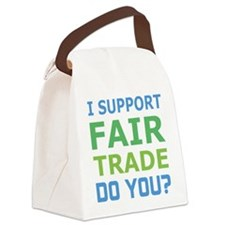 I Support Fair Trade Canvas Lunch Bag