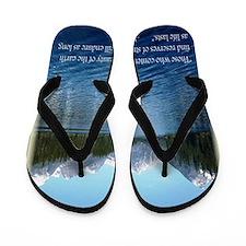 Rachel Carson Nature Quote Flip Flops