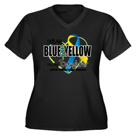 Blue & Yellow for Daughter Plus Size T-Shirt