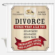 Medicinal Divorce Label Shower Curtain