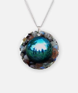 Magic Blue Marble Necklace