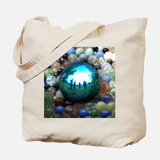 Magic Blue Marble Tote Bag