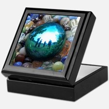 Magic Blue Marble Keepsake Box