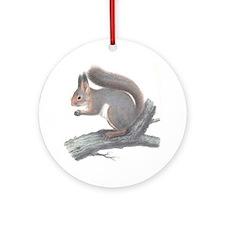 Vintage Squirrel Round Ornament