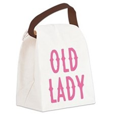 Old Lady Canvas Lunch Bag