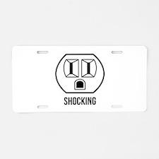 Shocking Aluminum License Plate
