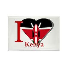 I love Kenya Rectangle Magnet