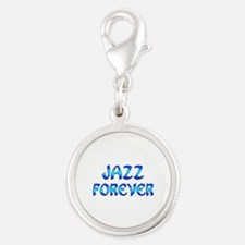 Jazz Forever Silver Round Charm