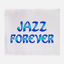 Jazz Forever Throw Blanket