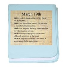 March 19th baby blanket