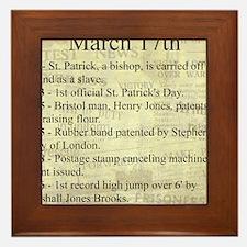 March 17th Framed Tile