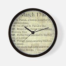 March 17th Wall Clock