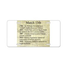 March 13th Aluminum License Plate