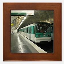 Hop On The Metro Framed Tile