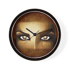 Steampunk Girl Eyes Wall Clock