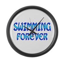 Swimming Forever Large Wall Clock