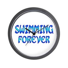 Swimming Forever Wall Clock