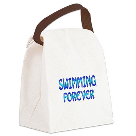 Swimming Forever Canvas Lunch Bag
