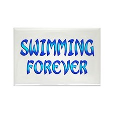 Swimming Forever Rectangle Magnet (100 pack)