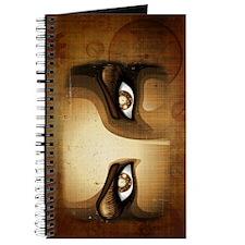 Steampunk Girl Eyes Journal