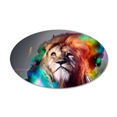 flaming lion Wall Decal