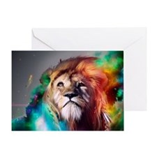 flaming lion Greeting Card