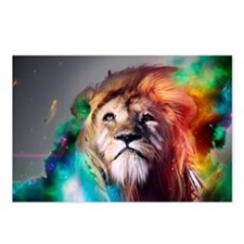 flaming lion Postcards (Package of 8)