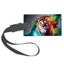 flaming lion Luggage Tag