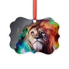 flaming lion Ornament