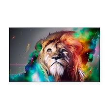 flaming lion Rectangle Car Magnet