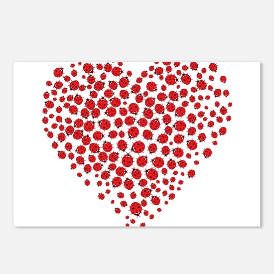 Heart of Ladybugs Postcards (Package of 8)