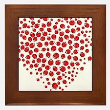 Heart of Ladybugs Framed Tile