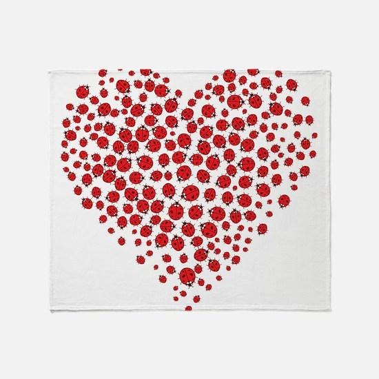 Heart of Ladybugs Throw Blanket