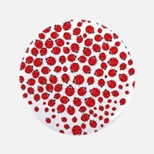 """Heart of Ladybugs 3.5"""" Button (100 pack)"""