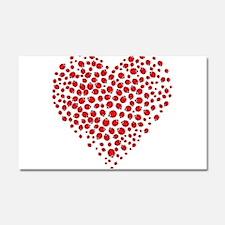 Heart of Ladybugs Car Magnet 20 x 12